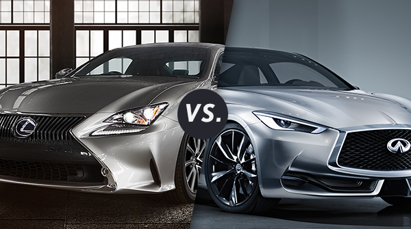 Los Angeles Compare Lexus RC350 vs Infiniti Q60